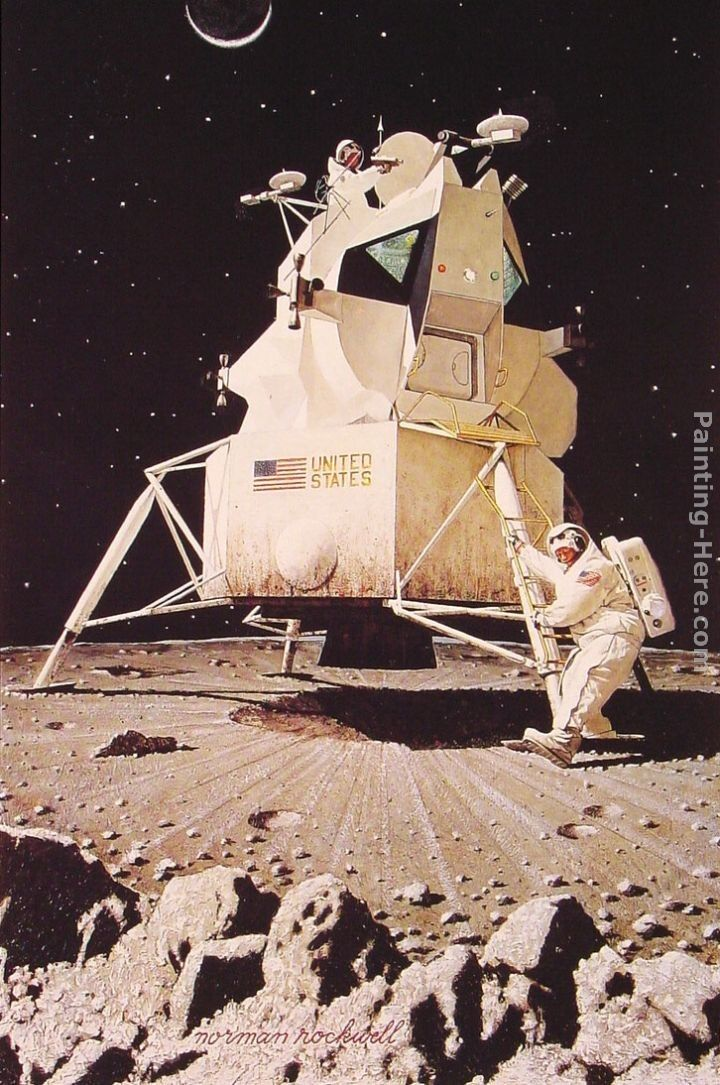 Norman Rockwell Man on the Moon