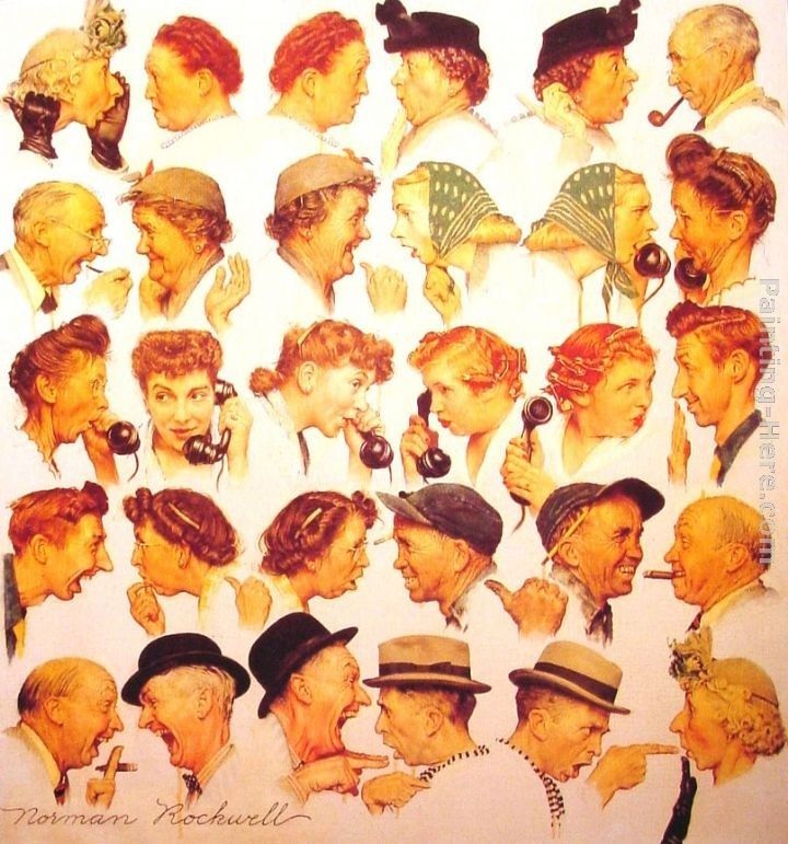Norman Rockwell The Gossips