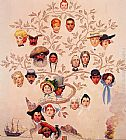 Norman Rockwell A Family Tree painting