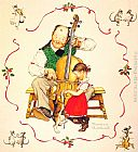 Norman Rockwell Christmas Dance painting