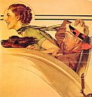 Norman Rockwell Couple in Rumble Seat painting