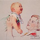 Norman Rockwell Delight painting