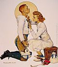 Norman Rockwell Football Hero painting