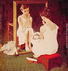 Norman Rockwell Girl at Mirror painting