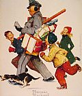 Norman Rockwell Jolly Postman painting