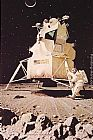 Norman Rockwell Man on the Moon painting