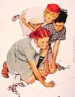 Norman Rockwell Marble Champion painting