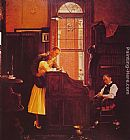 Norman Rockwell Marriage License painting