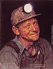 Norman Rockwell Mine America's Coal painting