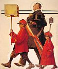 Norman Rockwell Parade painting