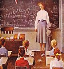 Norman Rockwell Teachers' Birthday painting