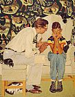 Norman Rockwell The Facts of Life painting