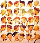 Norman Rockwell The Gossips painting