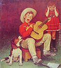Norman Rockwell The Music Man painting