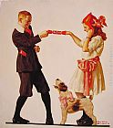 Norman Rockwell The Party Favour painting