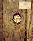 Norman Rockwell The Peephole painting