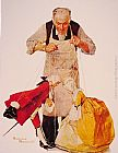 Norman Rockwell The Puppeteer painting