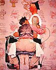 Norman Rockwell The Tattooist painting