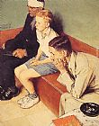 Norman Rockwell The Waiting Room painting
