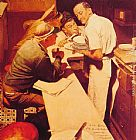 Norman Rockwell War News painting