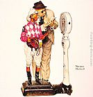 Norman Rockwell Weighing in painting