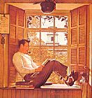 Norman Rockwell Willie Gillis in College painting