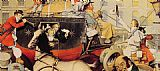 Norman Rockwell Winchester Stagecoach painting