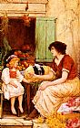 Oliver Rhys A Young Lacemaker painting