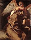 Orazio Gentleschi St Francis Supported by an Angel painting