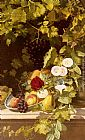 Otto Didrik Ottesen A Still Life With Fruit, Flowers And A Vase painting