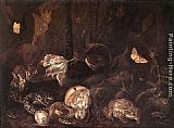 Otto Marseus Van Schrieck Still-Life with Insects and Amphibians painting