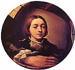 Parmigianino Self-portrait in a Convex Mirror painting