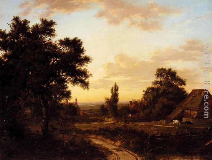 Patrick Nasmyth A View Of Addington, Surrey, With The Shirley Mills Beyond