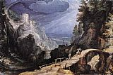 Paul Bril Mountain Scene painting