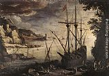 Paul Bril The Port painting