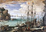 Paul Bril View of a Port painting
