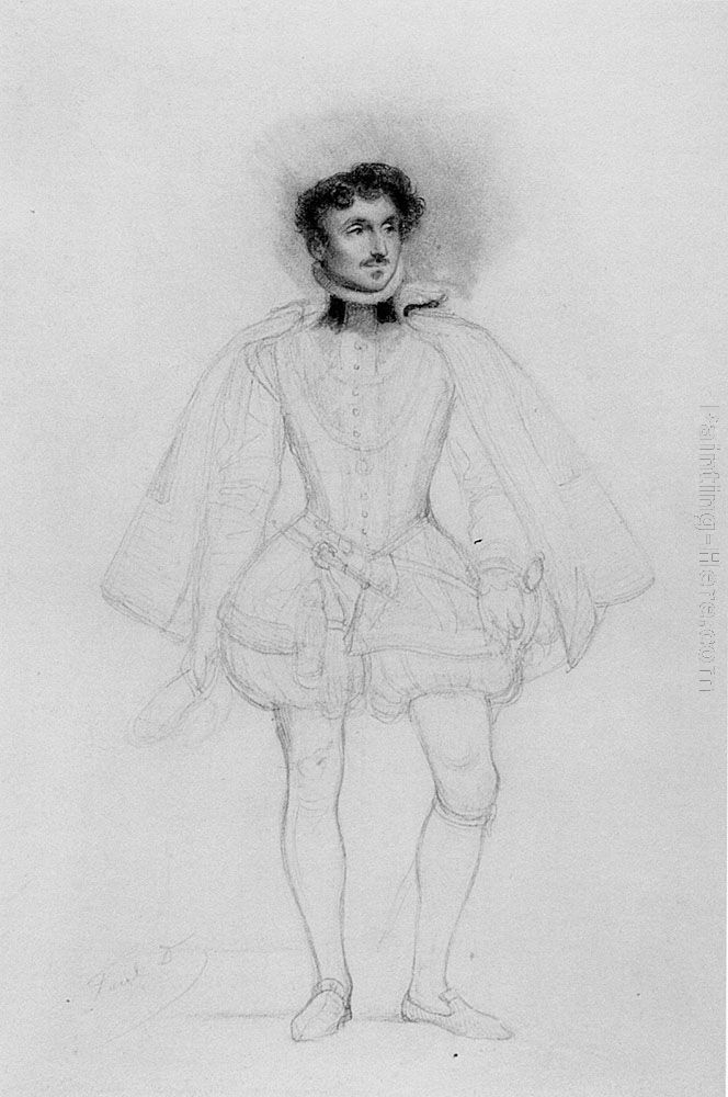 Paul Delaroche Pencil Study