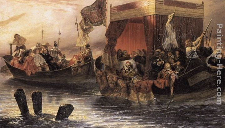 Paul Delaroche The State Barge of Cardinal Richelieu on the Rhone