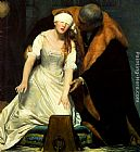 Paul Delaroche The Execution of Lady Jane Grey - detail painting