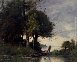 Paul Desire Trouillebert Shoring The Fishing Boat painting