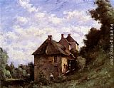 Paul Desire Trouillebert The Mill House painting