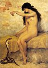 Paul Desire Trouillebert The Nude Snake Charmer painting