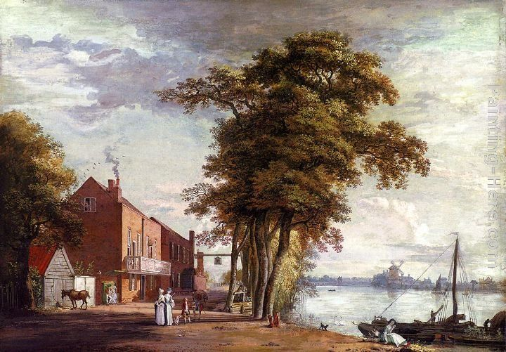 Paul Sandby The Spread Eagle Tavern, Millbank