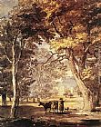 Paul Sandby Cow-Girl in the Windsor Great Park painting