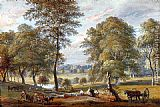 Paul Sandby Foresters In Windsor Great Park painting