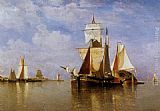 Paul-Jean Clays Shipping off the Dutch Coast painting