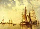 Paul-Jean Clays Shipping on the Scheldt painting