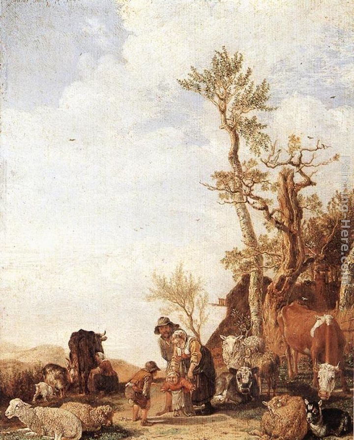 Paulus Potter Peasant Family with Animals