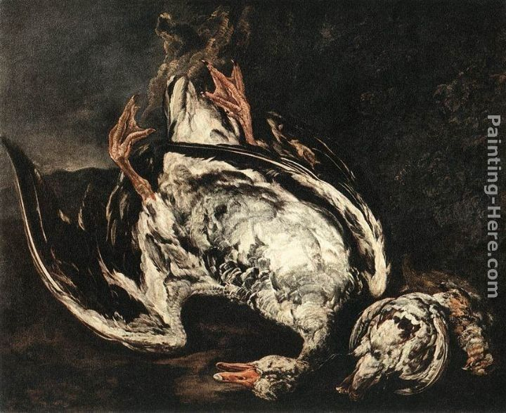 Peeter Boel Still-Life with Dead Wild-Duck