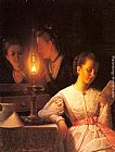 Petrus Van Schendel The Letter painting